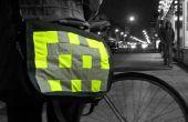 Grote tas Badges: Naai-op hi-vis badges voor fietsen/lopen