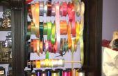 Aangepaste lint organisator voor kast Craft Room