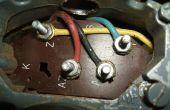 Bedrading van een Brooke Crompton Enkelfasige draaibank motor (Myford draaibank)