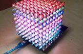 Gebruik 8 x 8 x 8 RGB Led kubus met Arduino