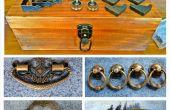 Vintage houten Tackle Box