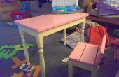 Kinderen van tafel en stoel