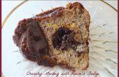 Chunky Monkey Bundt cake met Reese's Fudge Tunnel & met Ganache