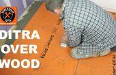 DITRA installeren op een houten ondervloer (halte gebarsten tegels)