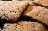 Zelfgemaakte Graham Crackers met witte chocolade glazuur