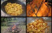 Een kampvuur bouwen en een heerlijke maaltijd koken