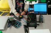 Mechanische licht Sensing en Flex sensoren gecontroleerd bloem Robot