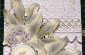 Hoe maak je een kaart met reliëf Witte Lelie sympathie