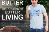 Gezonder leven door het maken van boter (schudden crème tot boter)