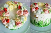 Kan bloemen krans taart