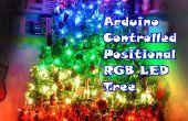 Arduino gecontroleerd positionele RGB LED kerstboom
