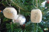 Aanpasbare ornamenten van notitieboekje en hout