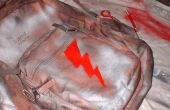 Gepersonaliseerde rugzak; Verf & Stencil stijl