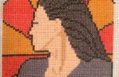 Farscape Cross Stitch: Art Nouveau Aeryn Sun