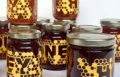 Laser-gesneden honing Labels