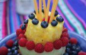 Maak een hele taart uit vrucht: Berry fruitige taart