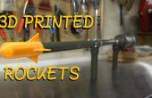 Maak uw eigen kanon van de Rocket - schieten 3D afgedrukt Rockets meer dan 100 voet!