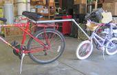 Mislukte poging om een trekhaak voor kind fiets
