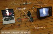 Aansluiten van een laptop aan een oude school RF TV