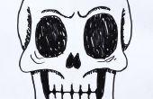 Hoe teken je een menselijke schedel