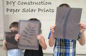 DIY Bouw papier zonne-Prints
