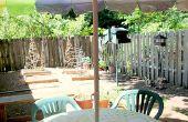 DIY tafelkleed met een gat voor Patio paraplu
