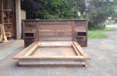 Restanten hout hoofdeinde en platform bed