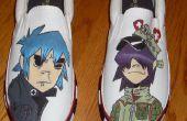 Hand geschilderd Gorillaz schoenen mannen maat 11