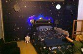 Space Station Dock slaapkamer met licht-up ruimteschip Bed