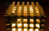 Houten kubus Lamp