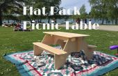 Flat-Pack picknicktafel van 1 vel multiplex