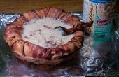 Maak een Bacon soep kom
