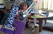 Maak een ambacht Stand van een achtervork Lamp