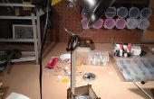 Flat pack lamp stand
