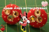 Minnie Mouse geïnspireerd knop oorbellen