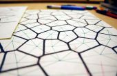 Handgetekende Voronoi diagrammen