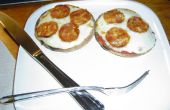 Engelse Muffin Mini pizza's!