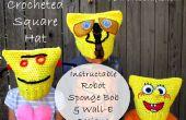Gehaakt vierkant gestreept onderhemdje - Instructable Robot, Sponge Bob & WALL-E