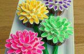 Hoe maak je Marshmallow bloem Cupcakes