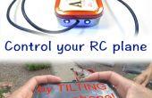 Controle van uw RC vliegtuig met uw telefoon Acclerometer