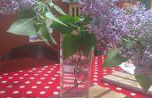 Knip een onregelmatig gevormde fles op een tegel zaag
