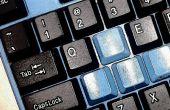 Zwart & blauw toetsenbord modding