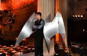 Arduino-gecontroleerde, aluminium Aartsengel kostuum Wings