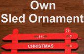 Hoe maak je een Popsicle stick slee ornament voor onder $2