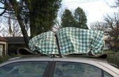 Stropdas ladingen naar auto daken door maken van tijdelijke ankers