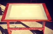 Antieke-geïnspireerde tekentafel w / ingebouwde Lightbox