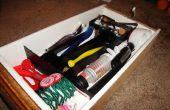 DIY lade organisatoren gemaakt van karton en contact papier