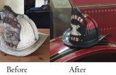 Antieke Fire helm restauratie