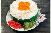 Hoe maak je een Cake van de kindverjaardag van Ikura Sushi