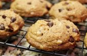 Gluten vrije bitterzoete chocolade Macadamia Nut koekjes